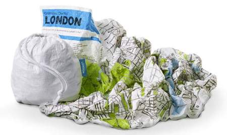 Crumpled City London map - © Palomar srl