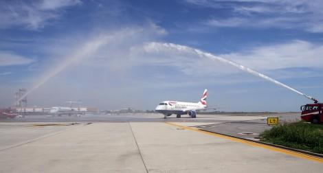 Arrivo a Venezia del primo volo BA dal London City Airport © MSL ITALIA - Ufficio Stampa British Airways