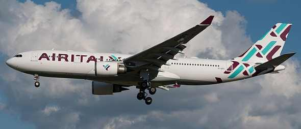 """A339 Air Italy - BriYYZ from Toronto, Canada [<a href=""""https://creativecommons.org/licenses/by-sa/2.0"""">CC BY-SA 2.0</a>], <a href=""""https://commons.wikimedia.org/wiki/File:Air_Italy_Airbus_A330-200_EI-GFX_(48170923871).jpg"""">via Wikimedia Commons</a>"""